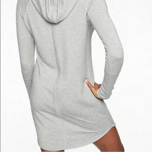 Nwot Grey Athleta Drawstring Hoodie dress